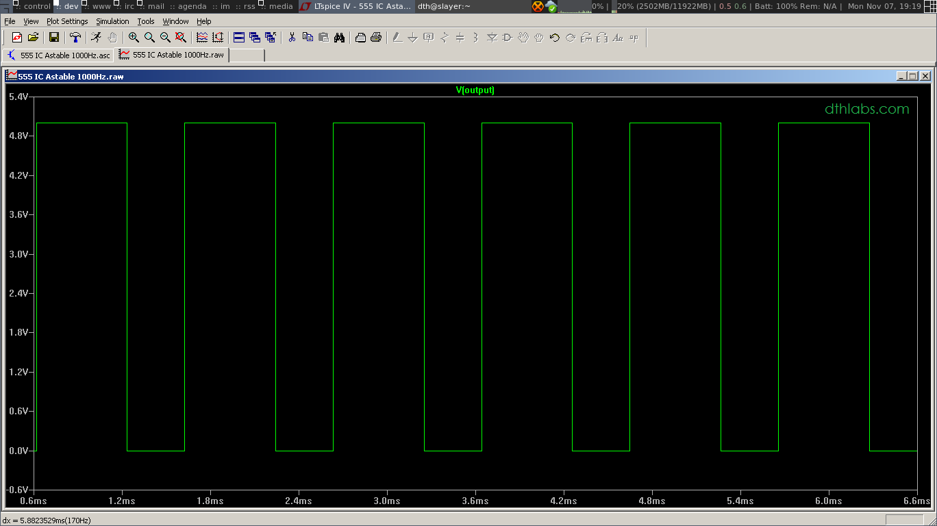1khz Signal Generator With A 555 Timer Frequency Circuit Tone Diagram Simulator Oscilloscope